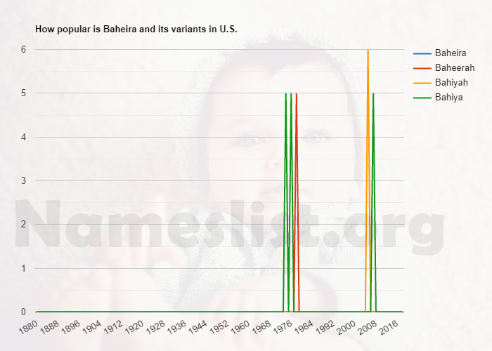 Popularity of Baheira and variations in U.S.