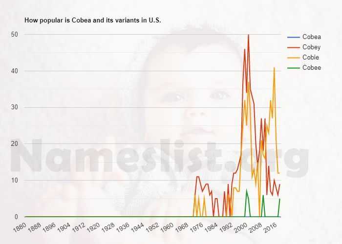 Popularity of Cobea and variations in U.S.